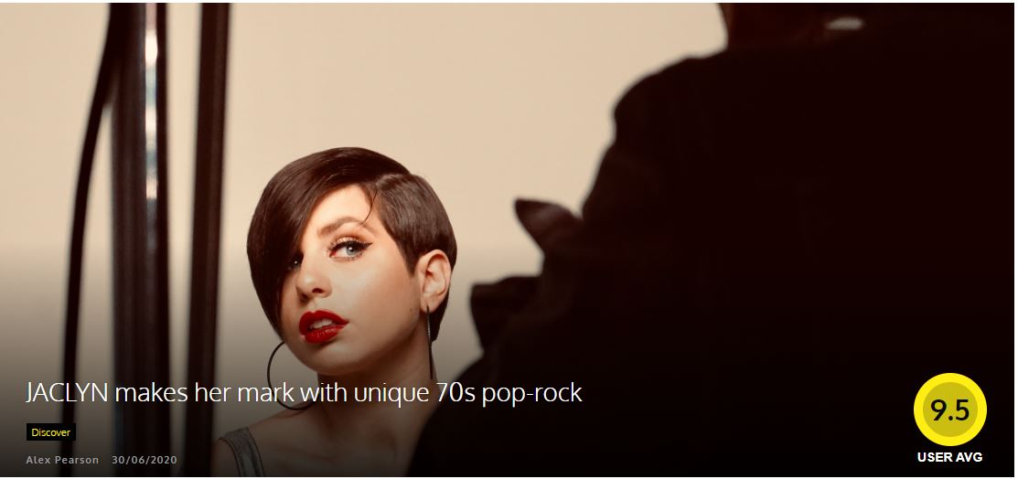 JACLYN makes her mark with unique 70s pop-rock